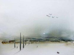 Gerhard Rasser, Austria, Sonata For Temptation, 2020, watercolor, gouache, crayon, 63 x 47 cm