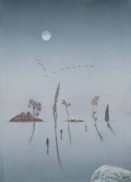 Gerhard Rasser, Austria, Strange World, mixed media, 2020, 21 x 30 cm