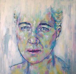 Grady Zeeman, South Africa, Grace Of A Woman, 2020, oil on canvas, 70 x 70 cm