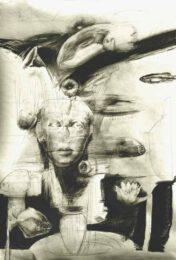 Hans Johansson, Sweden, Sphinx, drawing, 100 x 70 cm