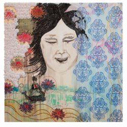 Hee Sook Kim, USA, Nirvana 1, 2019, mixed media on canvas, 127 x 127 cm