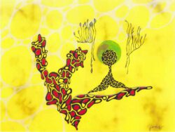 Jani Jan J., Austria, Keep Swinging, 1995, mixed media on canvas, 80 x 60 cm