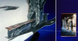 Judith E. Stone, Facts On The Ground / Cardo, Graphite, pastel, photograph, tinted, transparent plexiglas, enameled hardware, 22 x 62 cm