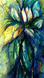 Kurt Ries, Germany, Blue Memories, 2011, watercolor, 41 x 26 cm
