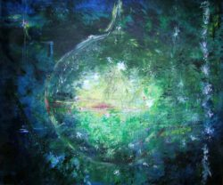Lizzy Forrester, Spain/UK, Awakening II Moonlight Sonata de Beethoven, 2020, acrylic on canvas 65 x 55 cm