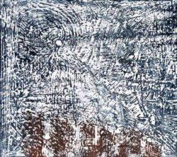Lucien Martini, Schweiz, Mondscheinsonata Evokation, 2020, woodcut, 41 x 46 cm