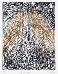 Lucien Martini, Switzerland, Mysterium, 2020, woodcut, 30 x 38 cm