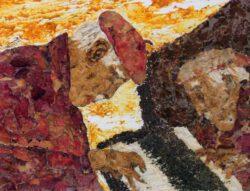 Magda Hanna, Canada, Rhapsody, 2009, florart (organic on canvas), 20 x 25 cm