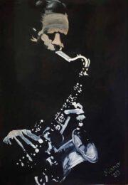 MANO (Nora Komoroczki), Hungary, At Night In The Bar, 2020, oil on canvas, 70 x 50 cm