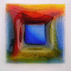 Maria Gruber, Austria, Musik im Raum, Glasschale/ Pigmentprint, 40 x 40 cm