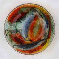 Maria Gruber, Austria, Disperato, Glasschale, 20 cm Durchm