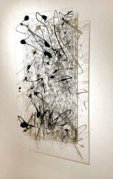 Megan Vun Wong, Canada, FORMALITY, 2016, Enamel on Plexi-construction, 61 cm x 144 cm x 12 cm