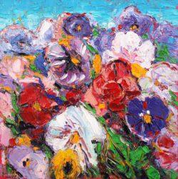 Mel Delija, Canada, Ontario Flower, oil on board, 30,5 cm x 30,5 cm