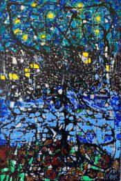 Natalia Rose, Starry Night, 2020, acrylic on linen, 150 x 100 cm
