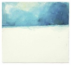 Oto Rimele, Slovenia, Sea, Sky And Ladder (7/12/V), 2020, watercolour on paper, 34 x 38 cm