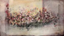 Patricia Pascazzi, Argentina, Just flowers!, 2020, oleo, enduido, 140 x 80 cm.