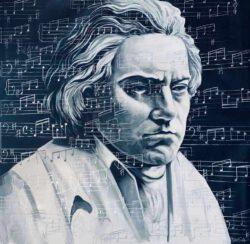 Paul Ygartua, Canada, Beethoven, 2020, acrylics on canvas, 121 x 121 cm