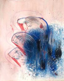 Rawan Ita, USA, Count It All Joy, 2020, mixed media on paper, 23 x 30 cm