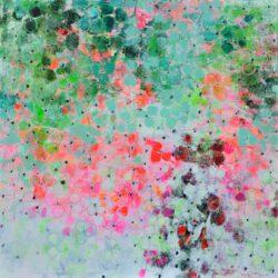 Tove Andresen, Denmark, Forest Adventure, 2020, acrylic on canvas, 135 x 135 cm