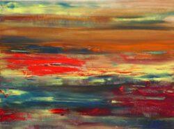 Trudie Noordermeer, The Netherlands, Field Of Poppies, 2021, oil on canvas, 60 x 80 cm