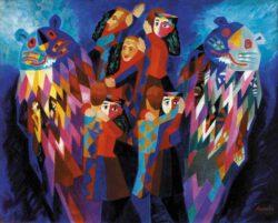 Valentina Anopova, Russia, Dance, 1995, oil on canvas, 80 x 100 cm