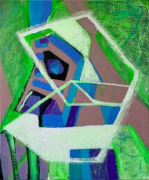 Wendy Cohen, Australia, Spectrum Of Variations, Garden Variety, 2021, acrylic on canvas, 76 x 61 cm
