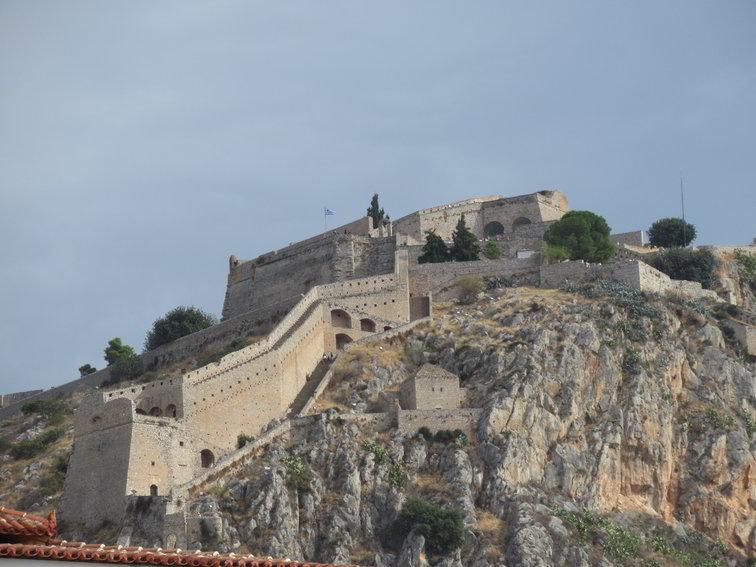 Festung hoch über der Stadt Nauplia